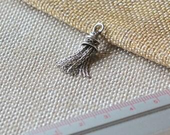 Sterling Silver Tassels, Mini Tassels, Tassles, Tassle Jewelry, Bohemian, Boho, Tassel Earrings, 925 Sterling Silver, Supplies, One Tassel