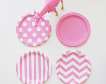 96 Mix and Match, Choose your Colors Paper Plates