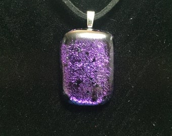 Purple Dichroic Necklace/Pendant