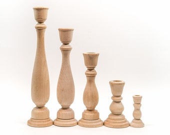 Candle Stick Holders | Wood Candle Sticks|  You choose size