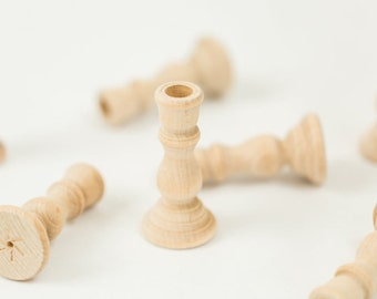 3 wood candle holders wedding supplies 3 inch unfinished wooden candle holders