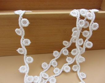 Vintage circle Lace trim Hollow out Lace Trims 1cm Wide sell by yard,buttons Trimming