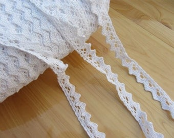 Vintage Cotton  Lace Trim ,DIY snow white lace ribbon for sewing,1.5CM white cotton lace,DIY trmming