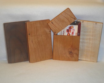 Elegant Business Card Cases in American Hardwoods - Distinguish Yourself by Flashing the Finest