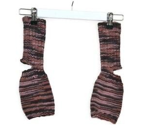 Yoga socks multi-brown(s) (toeless and healless, 38/39, US 7.5-8.5)