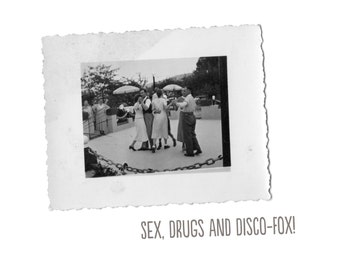 Sex, drugs and hustle!  Postcard