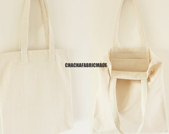 Tote Bag Blank with extension 100% Cotton  eco bag ecofriendly totes gift save planet