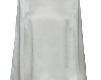 Silk button back split blouse