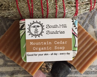 Mountain Cedar Organic Cold Process Soap