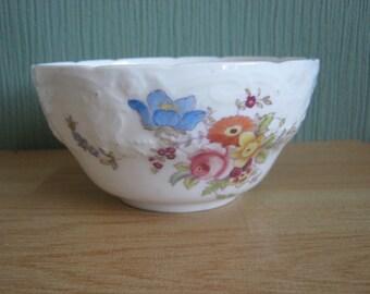 Vintage Coalport Embossed Floral Sugar Bowl
