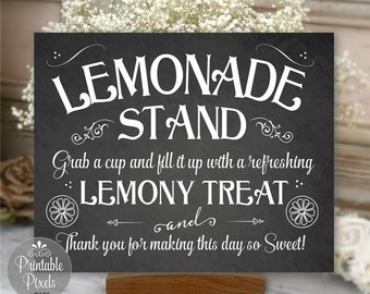 Lemonade Stand Sign Wedding Party Printable Chalkboard DIY Instant Download Ready To Print (#LEM1C)
