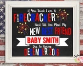 4th of July Pregnancy Announcement - Firecracker - Sibling - New Best Friend - Photoshop or Printable