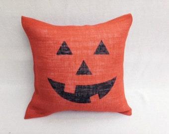Halloween pillow, Fall pillow, Halloween Decor, Fall Decor, Pillow case, Jack-o-lantern, Pumpkin, Pillow case, Pillow cover, Pillow