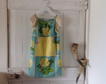 Children's Girls Summer Vintage Garden Dress.Size 4 to 6.