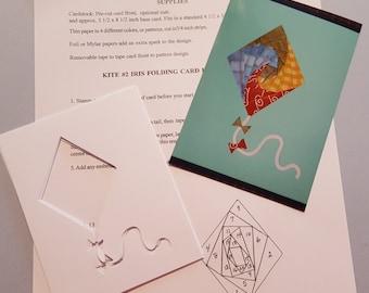 Kite Iris Folding Pattern