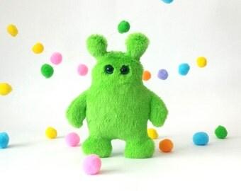 plush monster, stuffed monster, monster toy, cute monster, friendly monster, plush toy, monster doll, soft monster, handmade monster