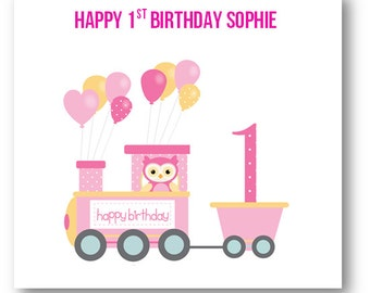 personalised babies first st birthday card nd birthday card, Birthday card