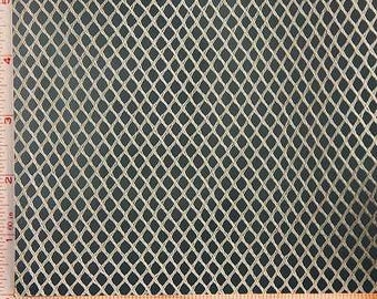 """Light Taupe Big Hole Mesh Fabric 2 Way Stretch Polyester 58-60"""""""