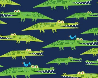 Fabric - Cloud 9 - Laminated cotton - Aligators Navy