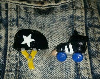 Roller derby pin set