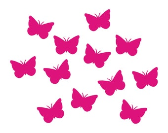 12 Butterfly appliques iron on