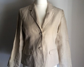 Vintage UK 12 US 8 EU 40 linen blazer