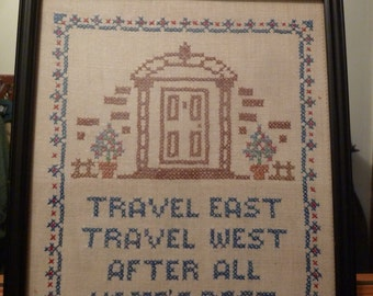 Vintage Cross Stitch on Linen