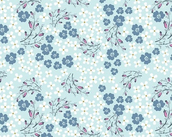 Flower Toss - Teal (9869-11) by Henry Glass #Laugh Love Quilt Collection Cotton Fabric Yardage