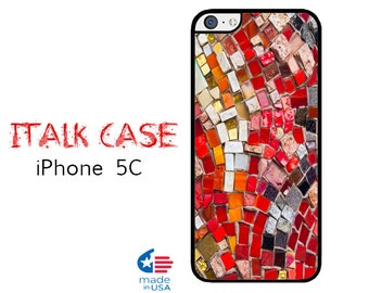 iPhone 5C Case iPhone 5C Phone Case Custom iPhone 5C Skin for iPhone 5C Cover iPhone Protective Case iPhone 5C Colorful Mosaic(not real)