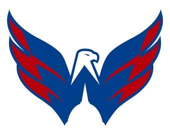 Washington Capitols Logo Decal Sticker 3 Colors