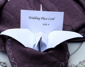 Wedding Place Card Holders - Origami Place Cards - Unique Wedding Place Cards - Offbeat Bride - Origami Wedding - Eclectic Wedding - Quirky