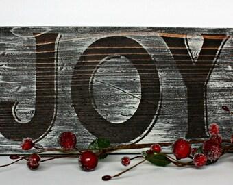 JOY Sign, Rustic Christmas Sign, Christmas Wood Sign, Wood Sign, Christmas Decor