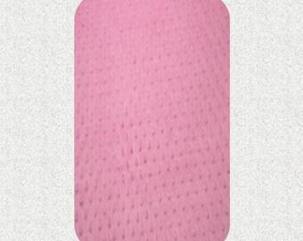 READY TO SHIP Minky Play Yard Sheet - medium pink