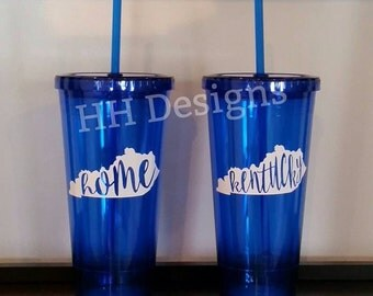 Kentucky / Home Tumbler [blue] - 20 oz.
