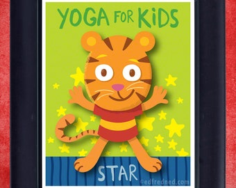 Star Pose: Yoga for Kids 8x10 Print