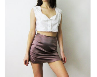 90s Cropped Peasant Top Small Medium