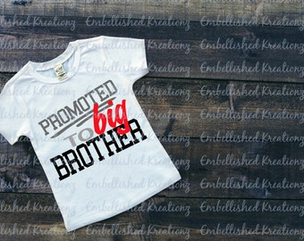 Big Brother/2017 Christmas Ornament/'Promoted to Big Brother' Heat Transfer (Iron-On) Vinyl Decal/Big Brother Shirt/Pregnancy Announcement
