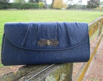 Blue clutch bag 1960's