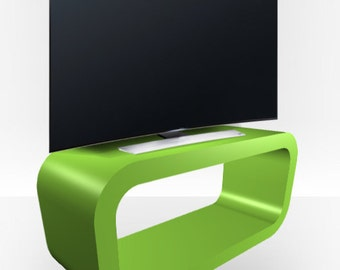 Apple Green Gloss TV Stand - Hooptangle