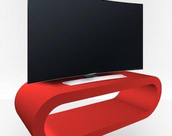 Red Matt TV Stand - Large Hoop