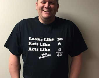 Funny Over The Hill Birthday T-shirt