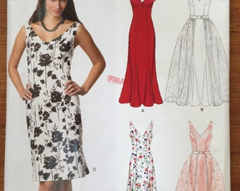 NewLook 6670 Misses' Dresses and Detachable Overskirt sizes 8-18 uncut