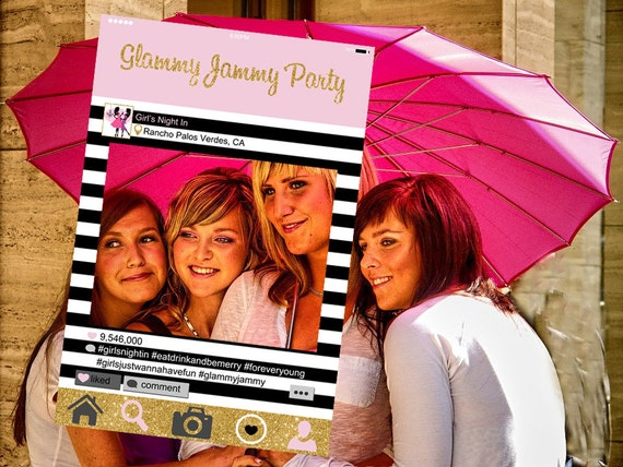 instagram style frame   customized   girls night out