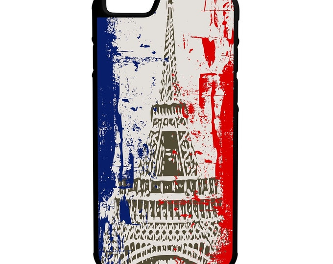 France Eiffel Tower iPhone Galaxy Note LG HTC Hybrid Rubber Protective Case