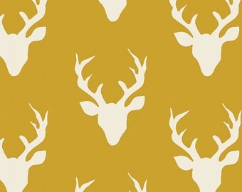 Hello Bear - Buck Forest Mustard - Bonnie Christine - Art Gallery Fabrics (HBR-4434-5)