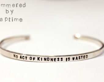 Skinny Cuff Bracelet, hand stamped bracelet, personalized jewelry, custom name, custom phrase, layering bracelet, stacking bracelet