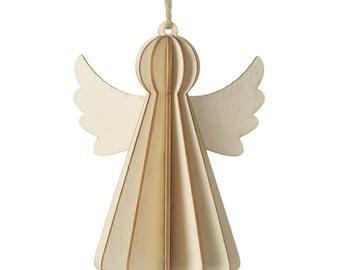 Wooden 3D Angel Decoration