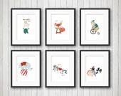Circus Nursery Art, Elephant Nursery Art, Circus Nursery Decor, Kids Circus Room