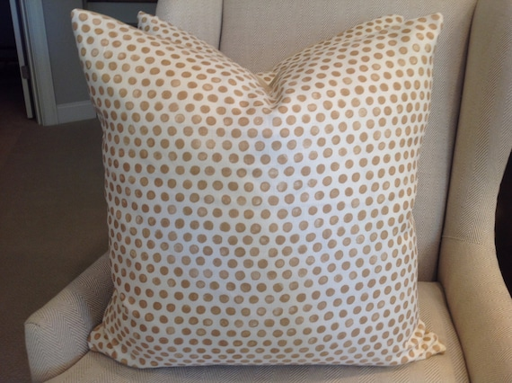 Lisa Fine Pillow Cover In Cafe Brown Tan Latte