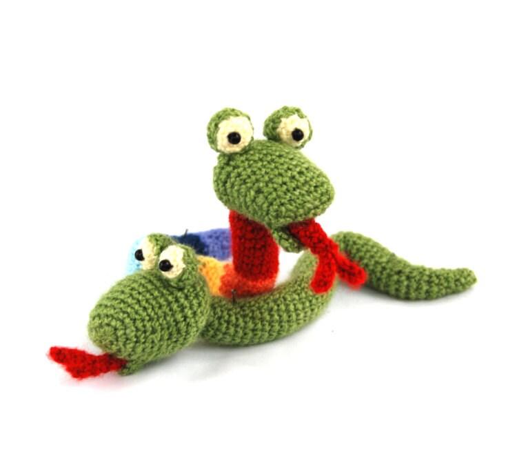 Crochet Doll Animals : amigurumi SNAKE doll crochet snake toy stuffed animal doll